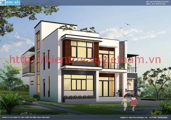 biet thu 2 tang chi thuy soc son 2 - Bộ sưu tập mẫu thiết kế biệt thự phố đẹp và sang trọng