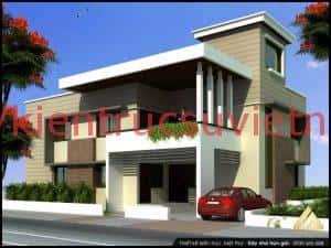 biet thu 2 tang hien dai ktsvn02 300x225 - 100 mẫu biệt thự 2 tầng 120m2 đẹp, sang trọng và tiện nghi