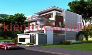 biet thu 2 tang hien dai ktsvn04 300x180 - 100 mẫu biệt thự 2 tầng 120m2 đẹp, sang trọng và tiện nghi
