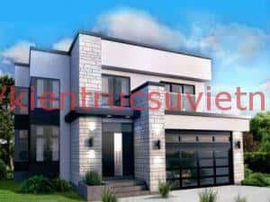 biet thu 2 tang hien dai ktsvn09 300x225 - 100 mẫu biệt thự 2 tầng 120m2 đẹp, sang trọng và tiện nghi
