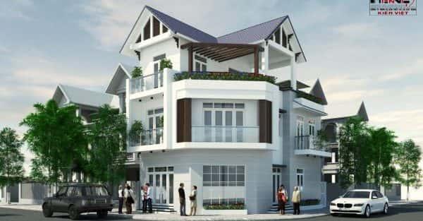 Công trình thiết kế biệt thự 3 tầng mái dốc anh Tường TP Cần Thơ