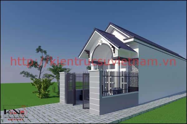 mau nha tret dep 520m ninh kieu can tho 1 - Công trình thiết kế nhà trệt đẹp 5*20m Ninh Kiều, TP Cần Thơ