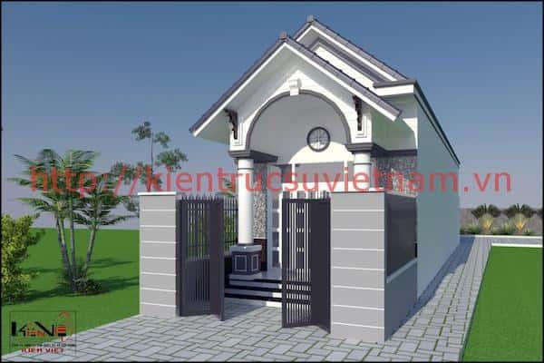 Công trình thiết kế nhà trệt đẹp 5*20m Ninh Kiều, TP Cần Thơ