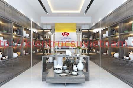 thiet ke showroom gom su minh chau 2 - Thiết kế Showroom gốm sứ Minh Châu, Ninh Kiểu Cần Thơ