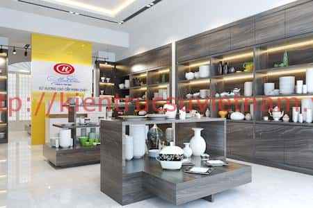 thiet ke showroom gom su minh chau 3b - Thiết kế Showroom gốm sứ Minh Châu, Ninh Kiểu Cần Thơ