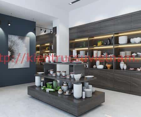 thiet ke showroom gom su minh chau 6 - Thiết kế Showroom gốm sứ Minh Châu, Ninh Kiểu Cần Thơ