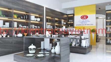 thiet ke showroom gom su minh chau - Thiết kế Showroom gốm sứ Minh Châu, Ninh Kiểu Cần Thơ