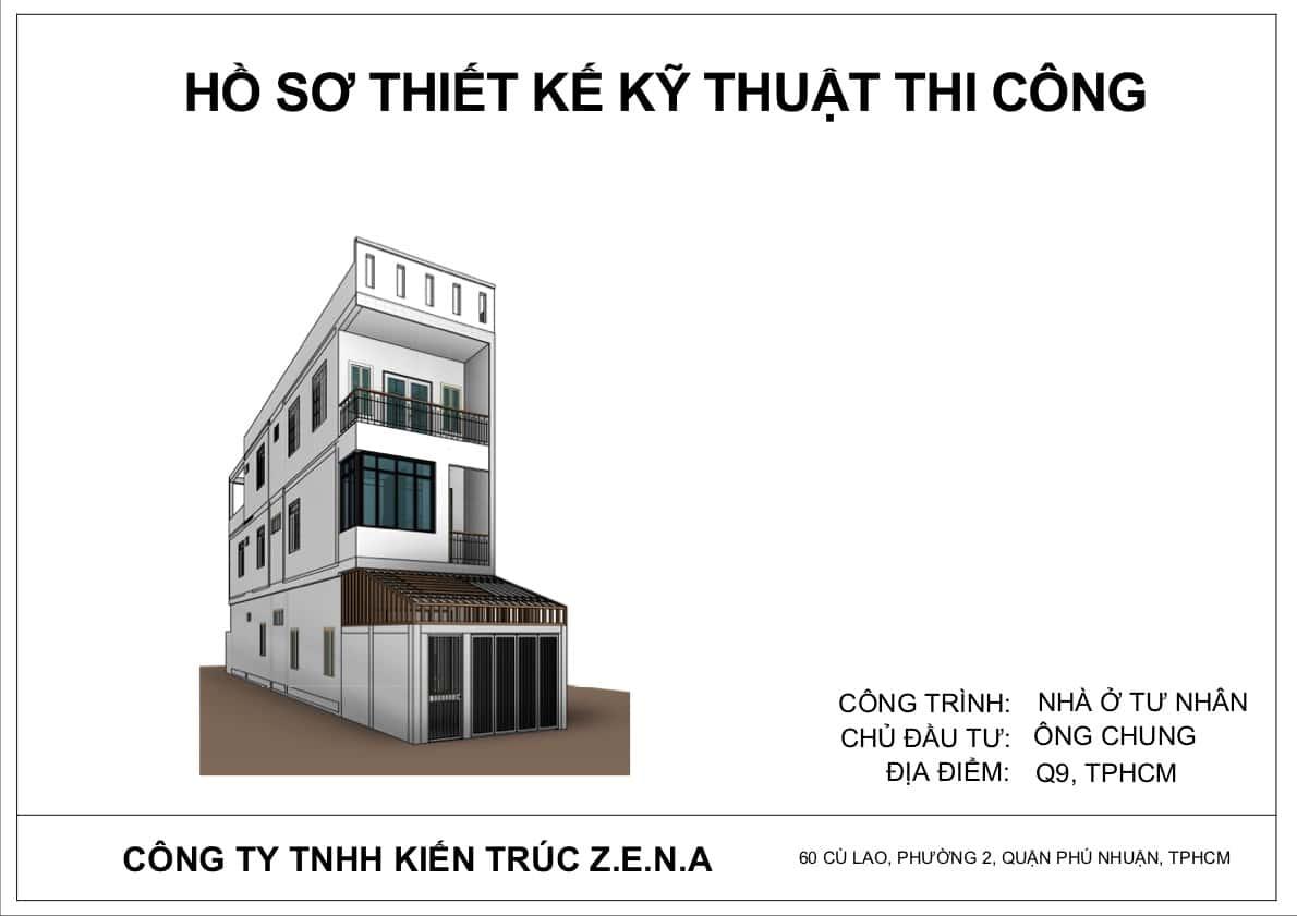 KT MR CHUNG MOI - Thiết kế nhà mặt tiền 4.7m anh Chung ở Quận 9, TPHCM