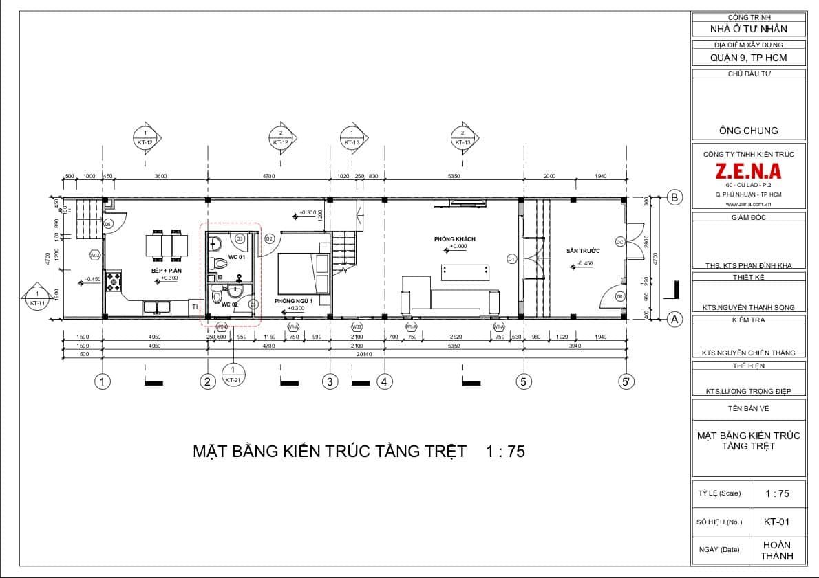 KT MR CHUNG MOI2 - Thiết kế nhà mặt tiền 4.7m anh Chung ở Quận 9, TPHCM