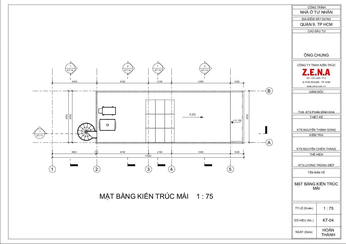 KT MR CHUNG MOI4 - Thiết kế nhà mặt tiền 4.7m anh Chung ở Quận 9, TPHCM