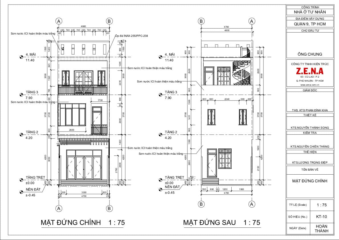 KT MR CHUNG MOI5 - Thiết kế nhà mặt tiền 4.7m anh Chung ở Quận 9, TPHCM