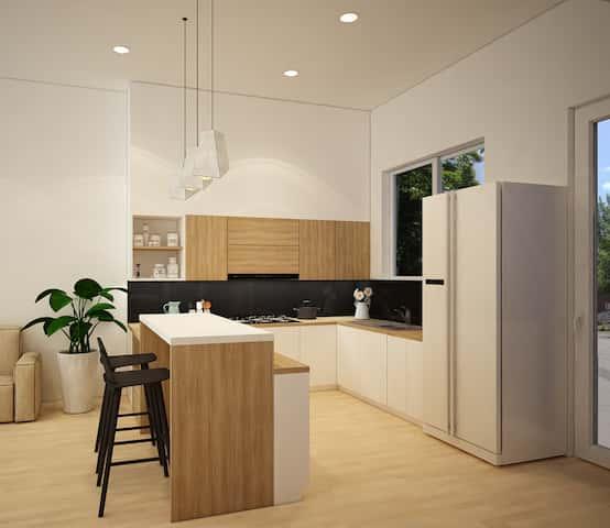 bep 1 - Thiết kế biệt thự phố mini 3 tầng kiến trúc hiện đại đẹp