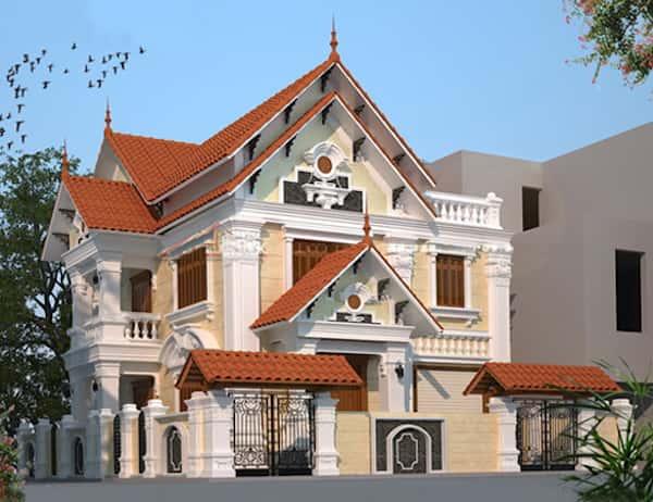 biet thu goc pho 2 mat tien 10 - Bộ sưu tập mẫu thiết kế biệt thự phố đẹp và sang trọng