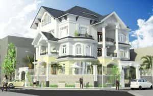 biet thu goc pho 2 mat tien dang cap 300x188 - 100 mẫu biệt thự 3 tầng hiện đại đẹp nhất 2018