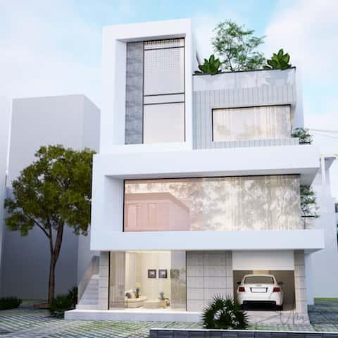biet thu hie dai 3 tang kts phan dinh khams tuyet 1 1 - Thiết kế biệt thự hiện đại 3.5 tầng 2 mặt tiền Ms Tuyết Quận 2, TPHCM
