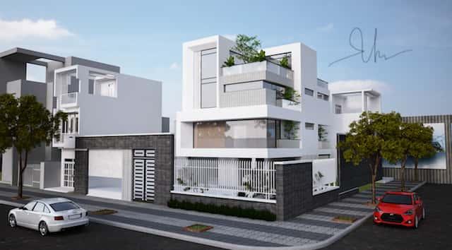 biet thu hie dai 3 tang kts phan dinh khams tuyet1 - Bộ sưu tập mẫu thiết kế biệt thự phố đẹp và sang trọng