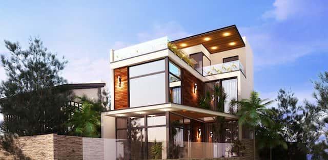 Thiết kế biệt thự phố mini 3 tầng kiến trúc hiện đại đẹp