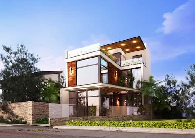 biet thu mini dep kts phan dinh kha - Thiết kế biệt thự phố mini 3 tầng kiến trúc hiện đại đẹp