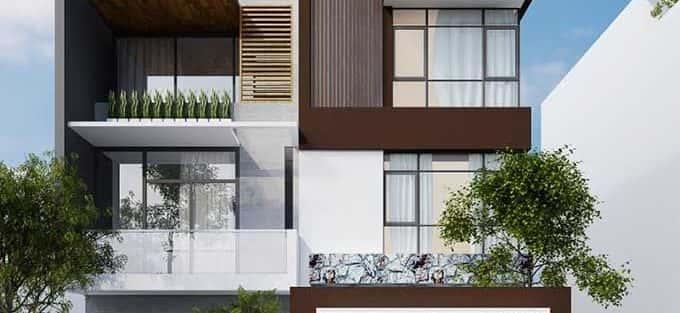60 Mẫu thiết kế biệt thự phố mặt tiền 9m đẹp sang trọng