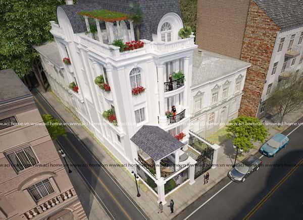 biet thu pho tan co dien goc pho - Dự án biệt thự 3 tầng góc phố 2 mặt tiền đẹp, chất