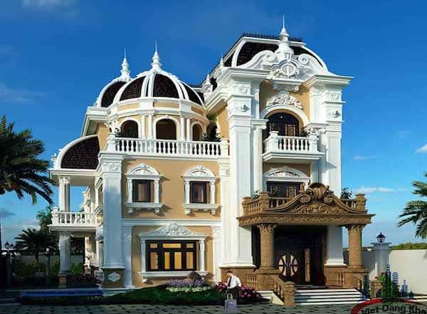 biet thu tan co dien - Mẫu thiết kế nhà 5 tỷ đẹp