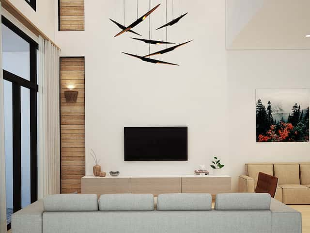khach 1 - Thiết kế biệt thự phố mini 3 tầng kiến trúc hiện đại đẹp
