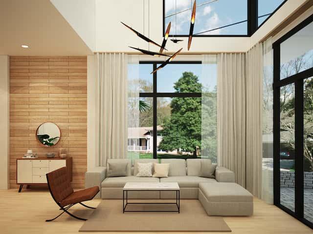 khach 2 - Thiết kế biệt thự phố mini 3 tầng kiến trúc hiện đại đẹp