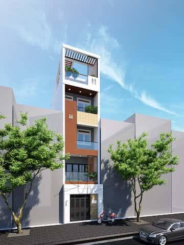 kien truc nha 5 tang kts phan dinh kha - Thiết kế nhà 5 tầng đẹp hiện đại chị Vân ở quận Bình Thạnh