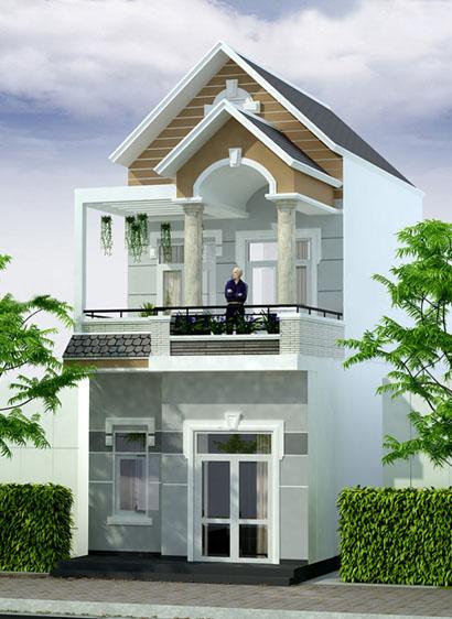 mẫu thiết kế nhà mặt tiền 5m - Bộ sưu tập những mẫu thiết kế nhà đẹp 5x20m