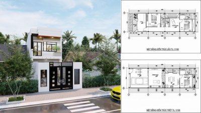 mat bang nha pho 5x20 1 400x225 - Tổng hợp các mặt bằng nhà phố 5x20m đẹp ấn tượng tham khảo