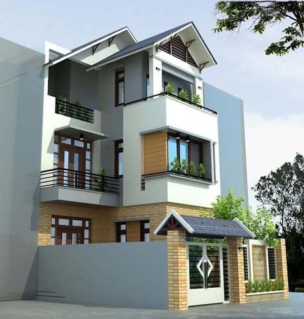 mau biet thu 3 tang 1 1 - Chiêm ngưỡng mẫu thiết kế biệt thự 3 tầng mái thái tuyệt đẹp