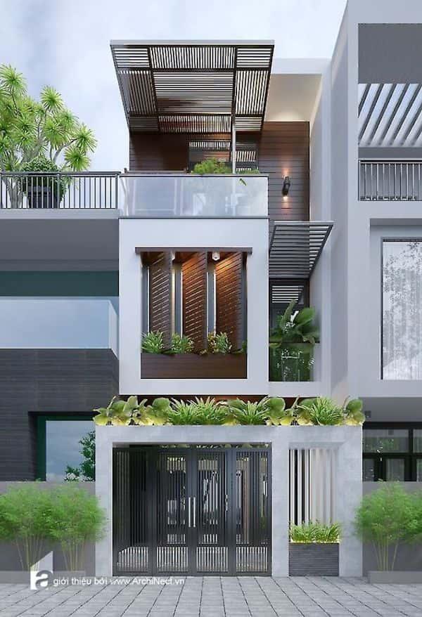 mau nha 3 tang dep 0 - Dự toán chi phí xây nhà 3 tầng 70m2 đẹp với phong cách ấn tượng