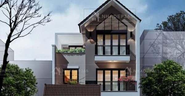 Các kiểu nhà phố 3 tầng