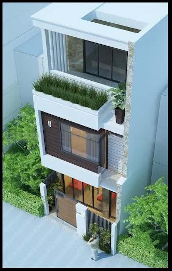 mau nha 3 tang dep 6 - Thiết kế nhà mặt tiền 4.7m anh Chung ở Quận 9, TPHCM