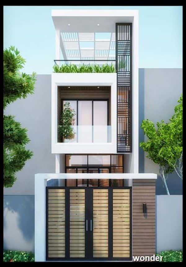 mau nha 3 tang dep 9 - Thiết kế nhà mặt tiền 4.7m anh Chung ở Quận 9, TPHCM