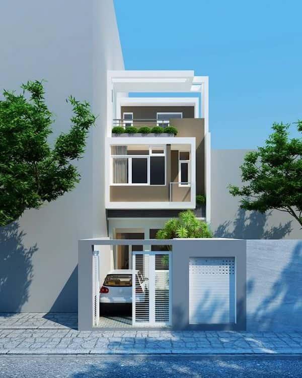 mau nha 3 tang dep p - Thiết kế nhà mặt tiền 4.7m anh Chung ở Quận 9, TPHCM