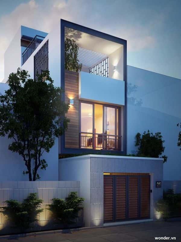 mau nha 3 tang dep po - Thiết kế nhà mặt tiền 4.7m anh Chung ở Quận 9, TPHCM