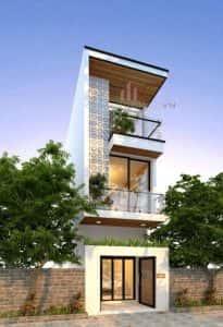 mau nha 3 tang dep q 205x300 - mẫu thiết kế nhà 3 tầng 5 x 17 m có cổng