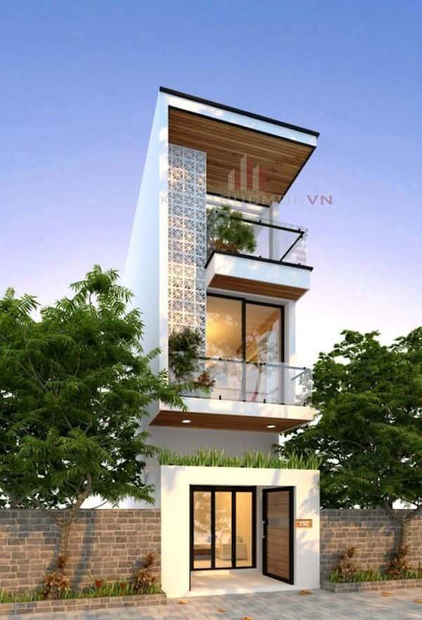 mau nha 3 tang dep q - Thiết kế nhà mặt tiền 4.7m anh Chung ở Quận 9, TPHCM