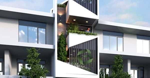 Vẽ sơ đồ mặt bằng ngôi nhà 3 tầng đẹp tối ưu công năng, đẹp