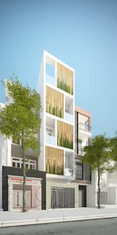 mau nha dep 5 tang kts phan dinh kha - Thiết kế nhà 5 tầng đẹp hiện đại chị Vân ở quận Bình Thạnh