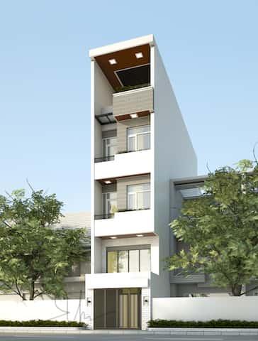 mau nha pho 5 tang kts phan dinh kha - Thiết kế nhà 5 tầng đẹp hiện đại chị Vân ở quận Bình Thạnh