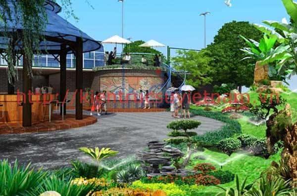 mau thiet ke nha hang san vuon 1 - Bộ sưu tập 45 mẫu biệt thự nhà vườn 400m2 tuyệt đẹp