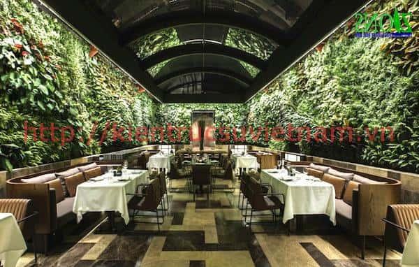 mau thiet ke nha hang san vuon 34 - Thiết kế thi công nhà hàng đẹp sang trọng