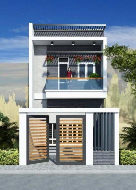 mau thiet ke nha ong 2 tang 5x20m dep e1592642475598 - Thiết kế nhà ống 2 tầng 3 phòng ngủ đẹp