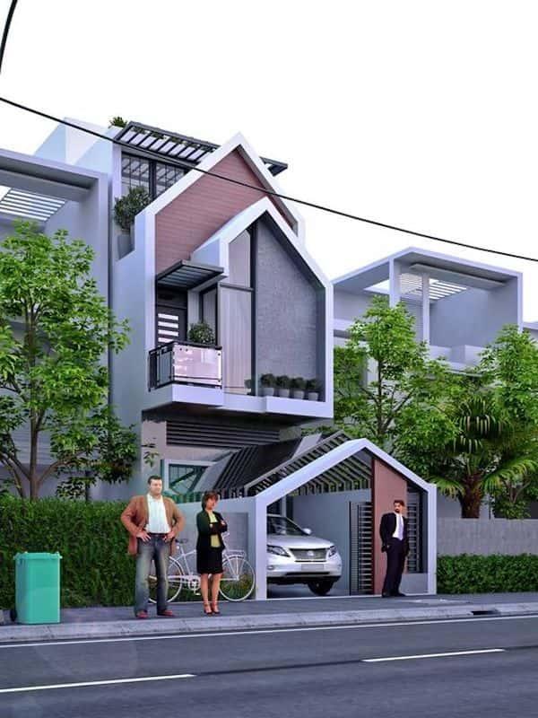 nha 3 tang dep 2 - Thiết kế nhà mặt tiền 4.7m anh Chung ở Quận 9, TPHCM