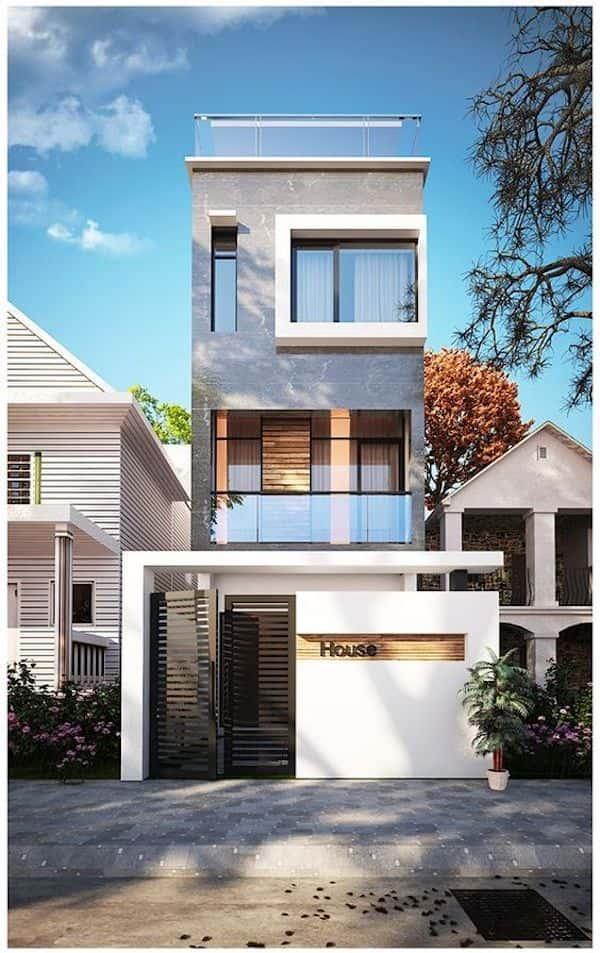 nha 3 tang dep 4 - Thiết kế nhà mặt tiền 4.7m anh Chung ở Quận 9, TPHCM