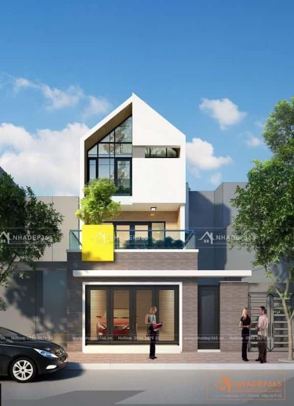 nha 3 tang dep - Dự toán chi phí xây nhà 3 tầng 70m2 đẹp với phong cách ấn tượng