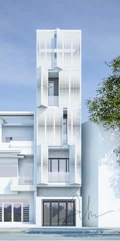 nha dep 5 tang kts phan dinh kha - Thiết kế nhà 5 tầng đẹp hiện đại chị Vân ở quận Bình Thạnh