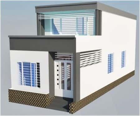 nha ong 1 tang 1 - Những mẫu nhà cấp 4 đẹp 100m2 mái thái xây giá từ 500 triệu